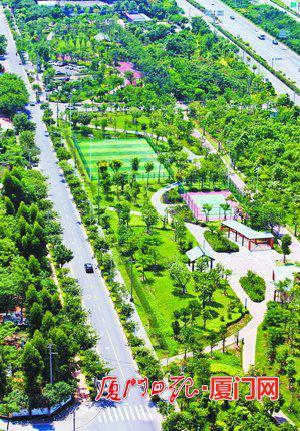 图为翔城绿道。