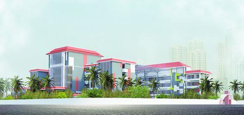 即将开办的厦门市国贸协和双语高级中学效果图。