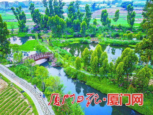 翔安塘头湿地公园风景如画。(本报记者 王火炎 摄)