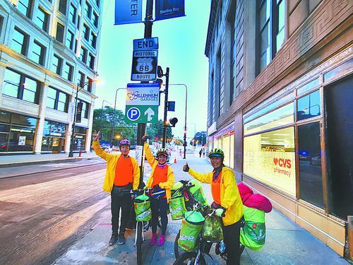 94天骑行4399多公里 三老人骑行横跨美国后成功返厦