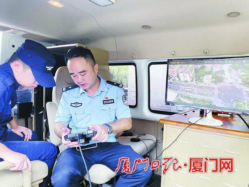 厦门警方部署开展警用无人机交通劝导查处专项行动