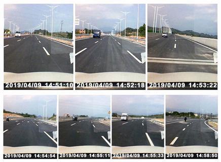 ▲导报记者调查发现,该路段车辆高速逆行现象严重