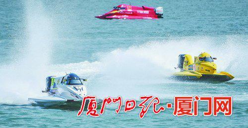 ▲湖里区联手厦门自贸片区引进F1H2O文旅项目。图为去年在湖里举行的2019F1摩托艇世界锦标赛中国赛。(本报记者 林铭鸿 摄)