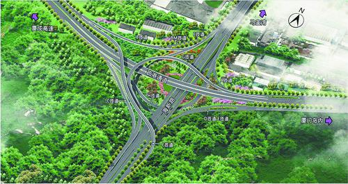 ■海疏立交工程建成后,将进一步完善区域路网。 效果图