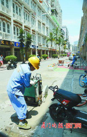 ■施工现场。  刘东华 摄