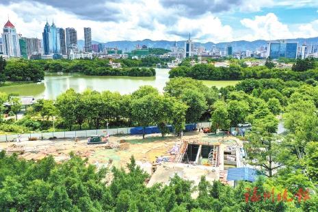 """▲梅峰污水处理站紧邻""""西堤春晓""""景观节点。"""