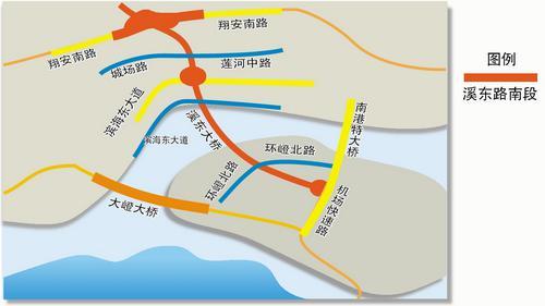 ■溪东路位于翔安东部,南接新机场快速路,北接新324国道。黄平 制图