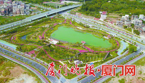 ■东山水系公园已全部竣工。