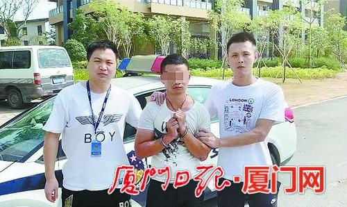 犯罪嫌疑人被民警抓获。