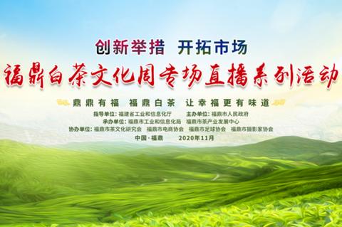 创新举措 开拓市场 福建福鼎白茶文化周专场直播系列活动10日起上演