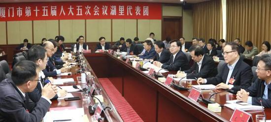 胡昌升书记、庄稼汉市长参加湖里代表团审议 充分肯定湖里工作