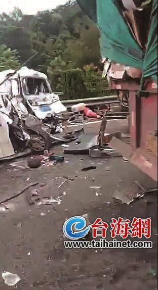 厦蓉高速长泰段两起事故 致2人受伤