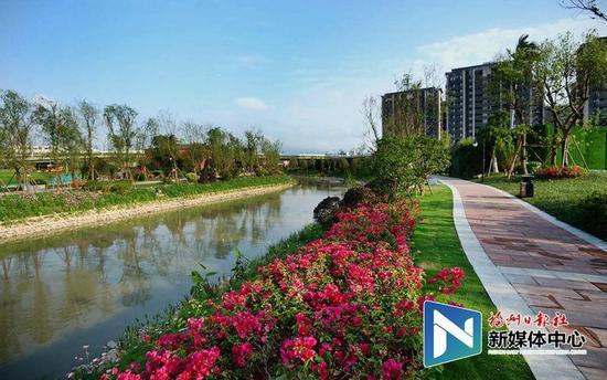 台屿河串珠公园。