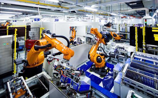 宁德时代新能源科技有限公司自动化电池模组生产