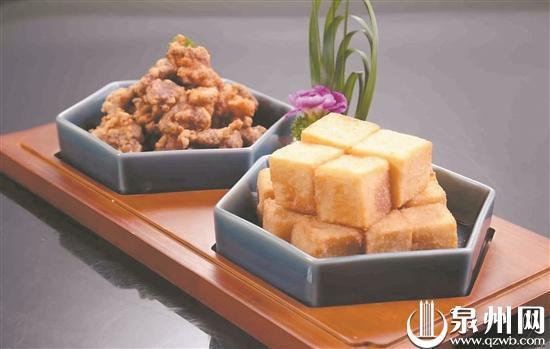 闽南炸物:醋肉和菜粿。