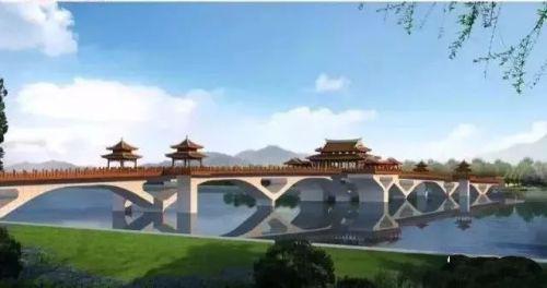 -  ▲南山桥——沿江透视图