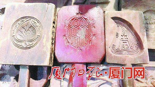 制作年俗祭祀用粿的模具,已成为供参观的闽南古风俗用品。