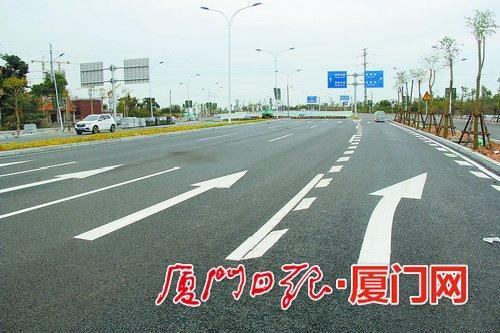 图为翔安西路(翔安南路-翔安东路段)。