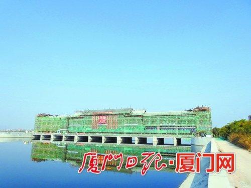 新石浔水闸完成主体结构施工。