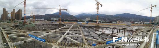 物联网产业孵化中心一期项目地下空间雏形已现。记者 陈滨峰 摄