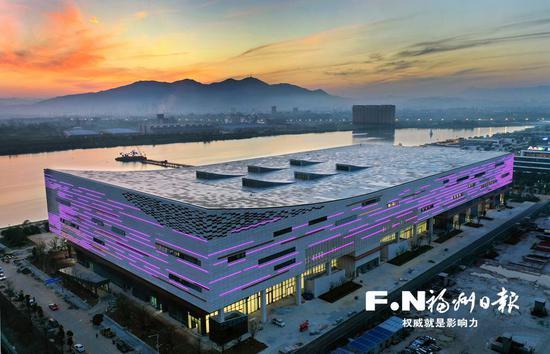 福州数字中国会展中心。(无人机拍摄)记者 叶义斌摄