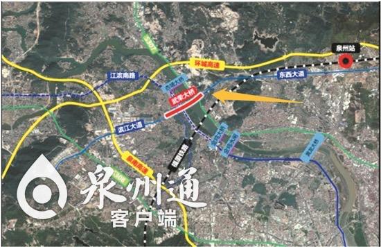 武荣大桥位置示意图