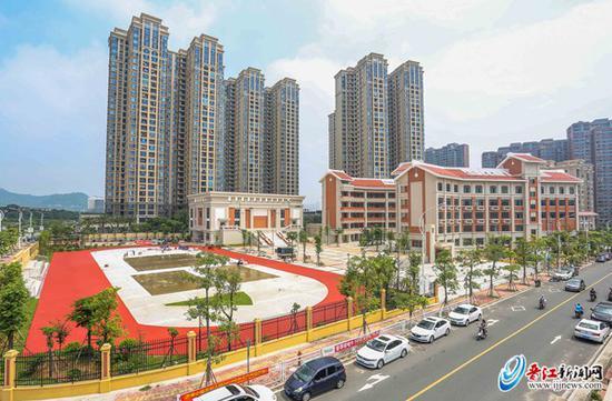 建设中的晋江第三实验小学金针校区,今年9月将投用