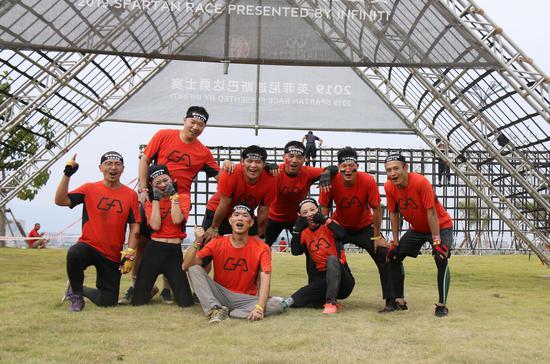 GA战队解锁2019年厦门斯巴达勇士赛