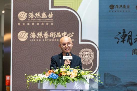 厦门佰翔海丝盛业国际文化艺术发展有限公司总经理洪庆祥致辞