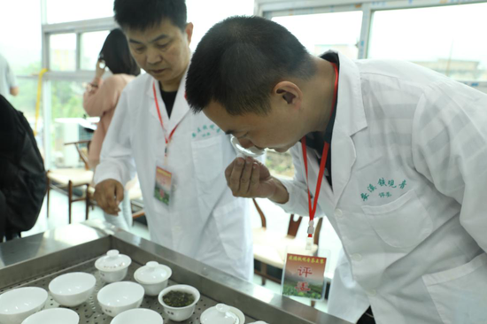 安溪县茶叶专家组成的评委组
