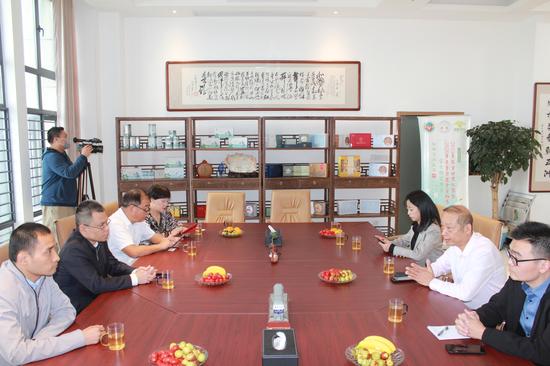 福建省委宣传部领导一行调研闽榕公司茉莉花茶产业发展情况