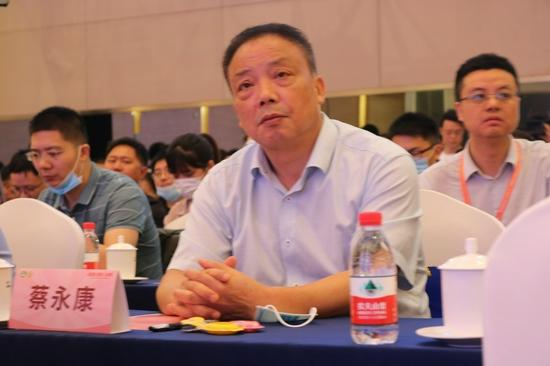 图为长富董事长兼总经理蔡永康出席2021中国奶酪发展高峰论坛