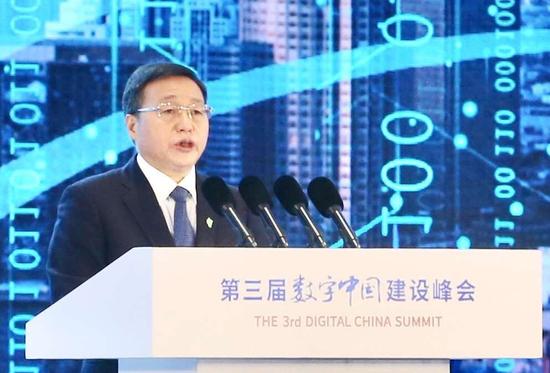 工商银行董事长陈四清出席数字中国建设峰会