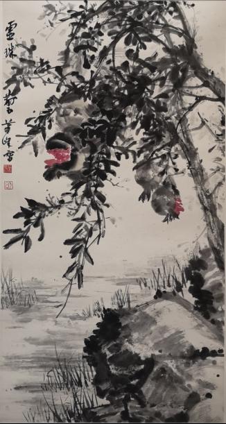 萧峰作品《灵珠荊玉》(纵:100厘米,横:50厘米)