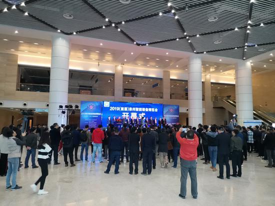 泉州南安市公安局局长陈俊杰实地指导首届智能装备博览会开幕式安保工作