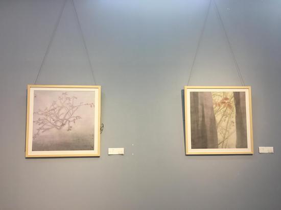 ▲ 林任菁西藏采风汇报展部分作品