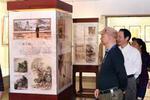 福州知青书画展开幕 展出60多件书画作品和老照片