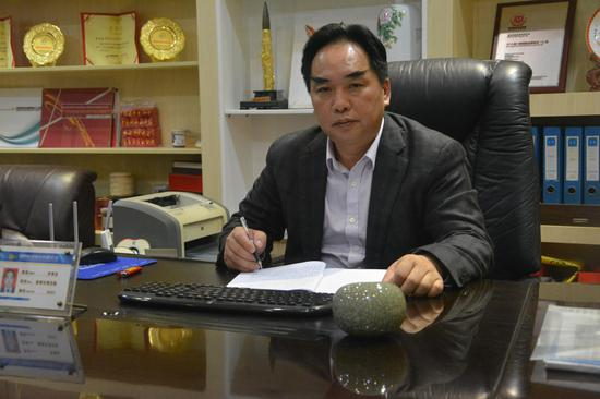 图一 李贵生董事长。(辜英 摄)