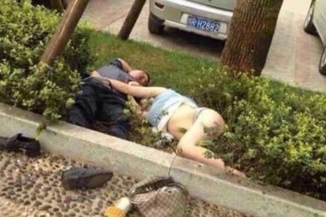 """南安2""""麻龟""""绿化带里相拥大哭 请警察送其去醒酒"""