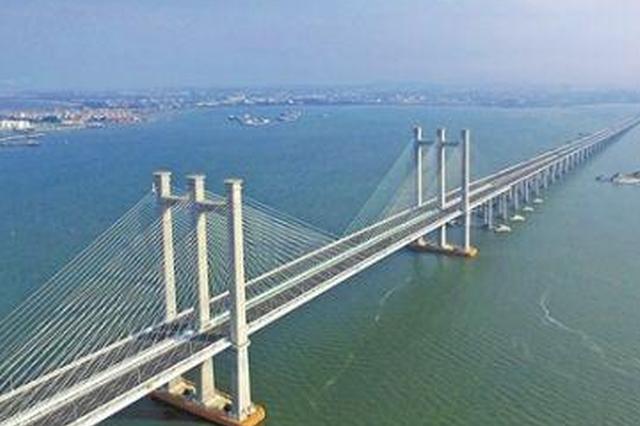 泉州湾大桥通车两年多 福建最长跨海大桥成新地标
