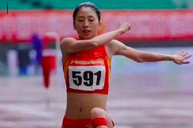 福州选手王乌品女子三级跳远夺金 福建队蝉联冠军