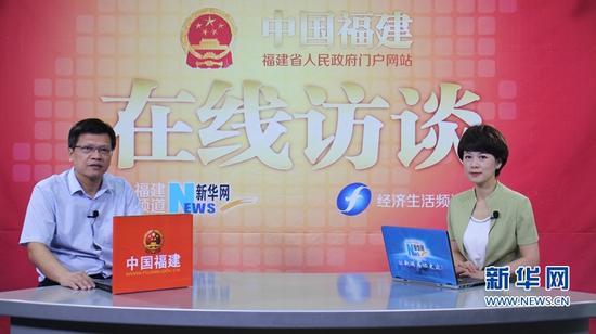 福建省交通运输厅总工程师王增贤接受新华网专访。