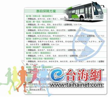 厦门:周六跑海沧半程马拉松 有免费公交专线接送