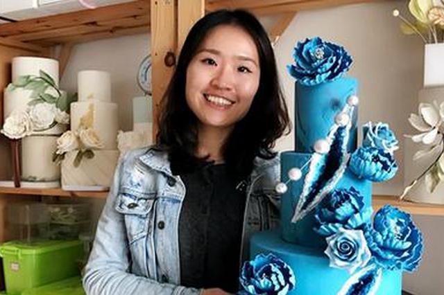 福州一美女舍20万年薪工作 醉心制作翻糖蛋糕