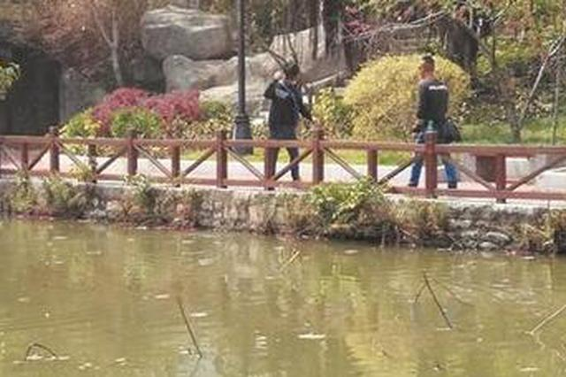 有人用弹弓射鱼 市民在东湖公园拍下这一幕并举报