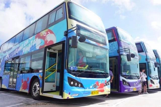 平潭启动双层观光巴士 游客可饱览环岛美景
