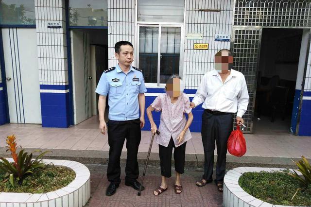 漳州一九旬老人街头迷路,龙文警方暖心救助
