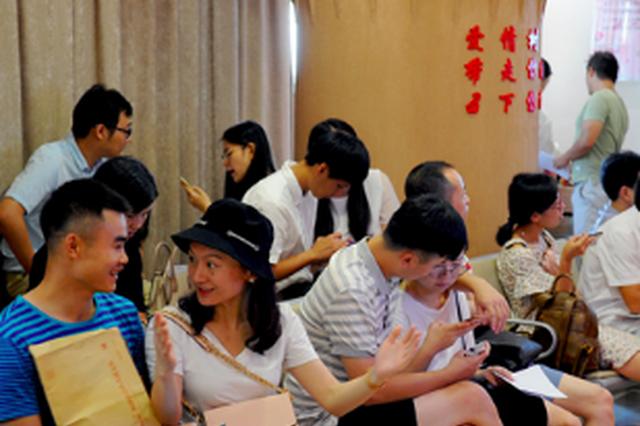 福建省4458对新人七夕登记结婚 其中福州有800对