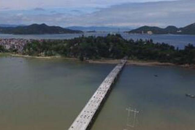 """政府和岛民共建""""连心桥"""" 壶江大桥预计10月底通车"""