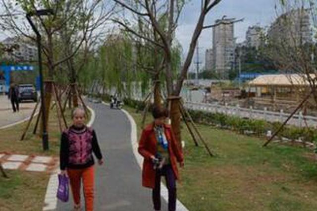 福州厦坊溪整治基本完成并对外开放 双层步道赏新景